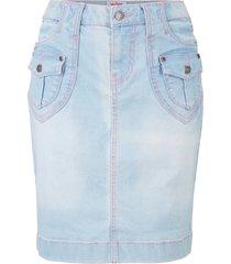 gonna di jeans elasticizzata authentic (blu) - john baner jeanswear