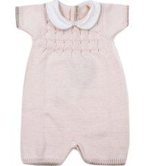 little bear pink cotton romper