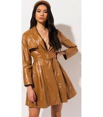 akira so sly vegan leather trench coat