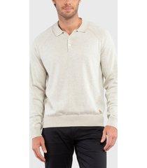 sweater dockers alpha plaited polo  crudo - calce regular