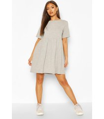 l'amour oversized t-shirt-jurk met zoom, grijs gemêleerd