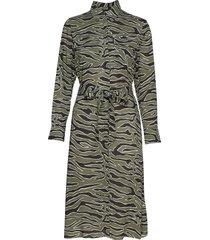 lr-ivy jurk knielengte groen levete room