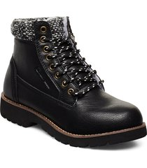 high cut shoe upstate shoes boots ankle boots ankle boot - flat svart champion