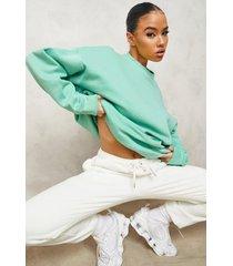basic oversized sweater, green