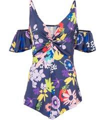 maglia con cut-out (viola) - bodyflirt boutique