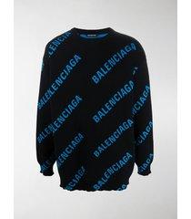 balenciaga logo-print sweatshirt
