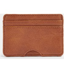 mens black tan pu card holder