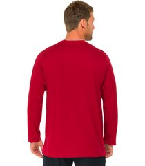 schiesser pyjamashirt lange mouw rood