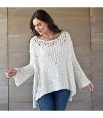 pretty pointelle sweater