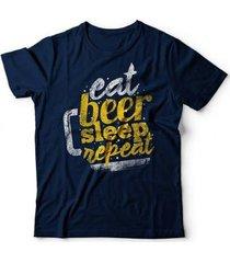 camiseta beer repeat - unissex