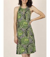 korte jurk admas strandjurk hojas y rayas