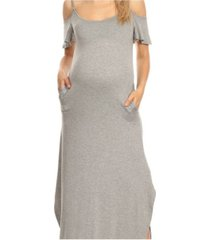 white mark plus size maternity lexi maxi dress