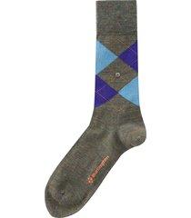 burlington socks melange edinburgh |green & blue| 21183-7928