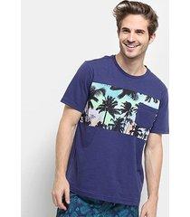 camiseta mood tropical bolso masculina