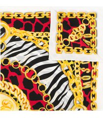 moschino animal-print scarf - yellow