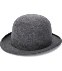 ami flat peak hat - grey