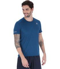camiseta adidas run 19 - masculina - azul escuro