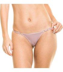 calcinha string com regulagem mate - 532.021 marcyn lingerie string bege