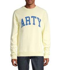zadig & voltaire men's graphic cotton sweatshirt - old pink - size l
