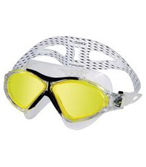 óculos de natação omega swim mask preto e amarelo speedo