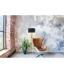 drewniana lampa podłogowa tuluza