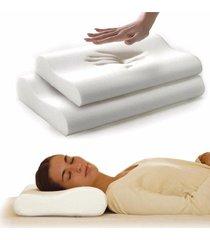 combo 2 almohadas memory foam funda puntos relajación