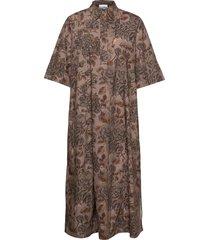 printed cotton poplin dresses shirt dresses brun ganni