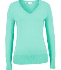 maglione con scollo a v (verde) - bpc bonprix collection