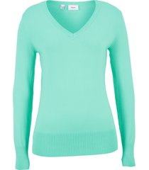 maglione con scollo a v (verde) - bpc bonprix collection