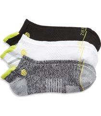 zella men's motion 3-pack ankle socks, size regular in black- charcoal heather multi at nordstrom