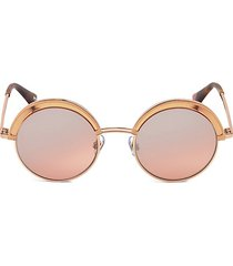 51mm pink & rose gold round sunglasses