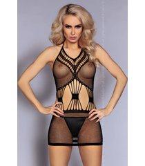 livco corsetti zwart net jurkje yeliz