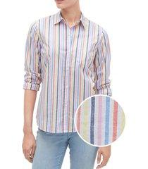 blusa rayada multicolor gap
