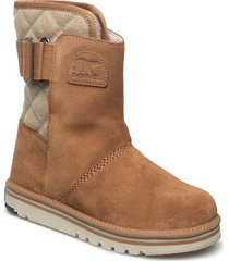 newbie shoes boots ankle boots ankle boots flat heel brun sorel