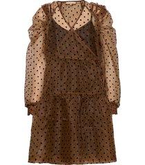 tula midi wrap dress dresses wrap dresses brun soft rebels