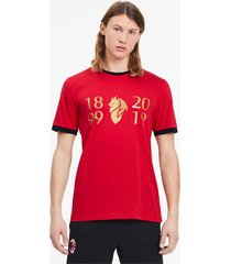 ac milan 120-jarig bestaan t-shirt voor heren, rood/goud, maat m | puma