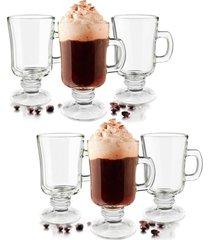 conjunto carisma com 06 xicaras capuccino, café 110ml - vidro