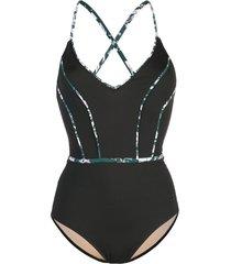 morgan lane trimmed poppy swimsuit - black