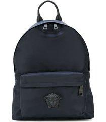 versace medusa palazzo backpack - blue