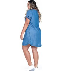 vestido corto y manga corta en tencel