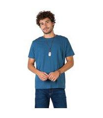 t-shirt básica comfort azul petróleo azul petróleo/g