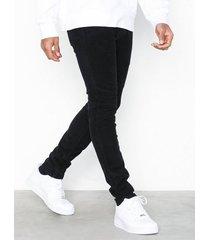 river island cord skinny wale jeans black