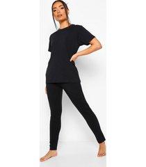 basic mix & match pyjama leggings, black
