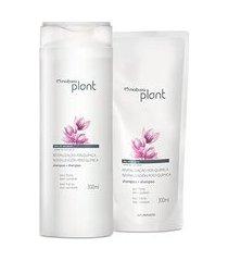 kit plant shampoo revitalização pós-química com refil