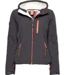 hooded winter windtrekker sommarjacka tunn jacka svart superdry