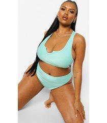 plus essentials bikini top met halsinkeping, bright green