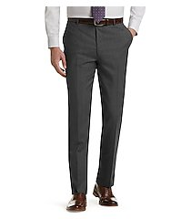 executive collection tailored fit herringbone weave flat front dress pants clearance by jos. a. bank