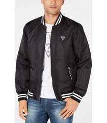guess men's water resistant bomber jacket