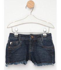 shorts jeans express flora azul - azul - menina - dafiti