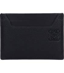 loewe plain wallet in taupe leather